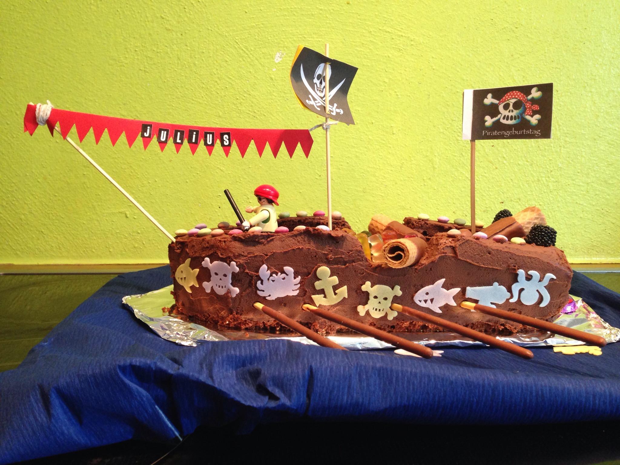 Julius Piratenschiff Geburtstagskuchen